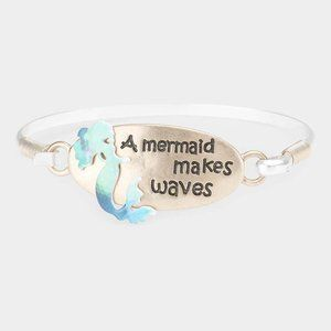 A MERMAID MAKES WAVES METAL HOOK BRACELET
